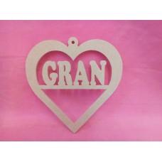 4mm MDF Heart Gran